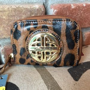 NWT Kate Landry Small Leopard Print Coin Purse